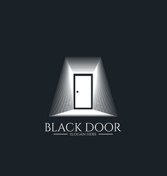 door gate logo for home entrance minimal wood vector image