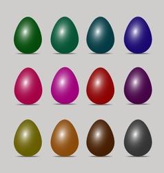 easter egg colors art design vector image
