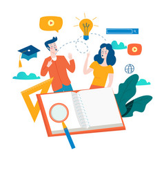 Education online training courses vector