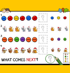Educational pattern game for children vector