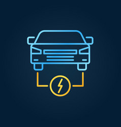 electric car colorful icon ev creative vector image