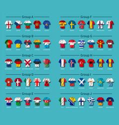 European soccer tournament qualifying draw 2020 vector