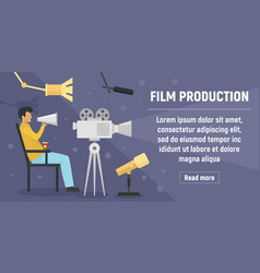 film production concept banner flat style vector image