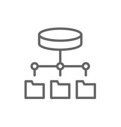 folder hosting ftp server software update data vector image
