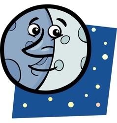 Funny moon cartoon vector