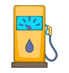 Gas station icon cartoon style vector image