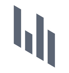 graph chart icon isometric style vector image