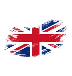 great britain flag grunge brush background vector image