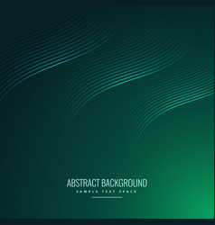 green background with wavy lines vector image