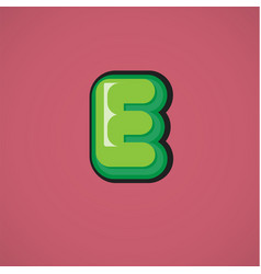 Green comic character from a fontset vector