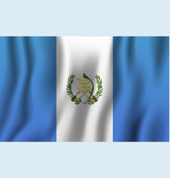 guatemala realistic waving flag national country vector image