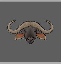 Head of muskox portrait of wild animal hand drawn vector