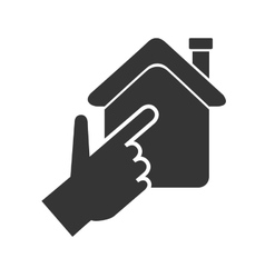 house hand real state isolated vector image