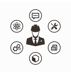 Icon set engineer vector image