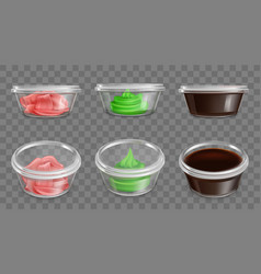japanese cuisine spices sauces packaging vector image