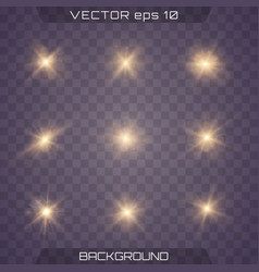 light effect glow vector image