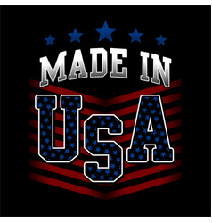 Made in usa american united states america vector