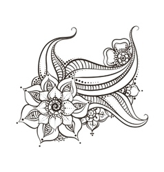 Mehndi flowers design vector