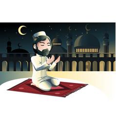 Muslim praying vector