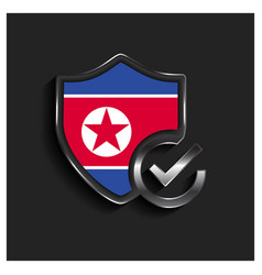 North korea flag design vector