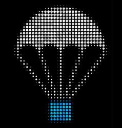 Parachute halftone icon vector