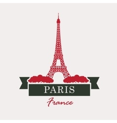 Paris and Eiffel Tower vector
