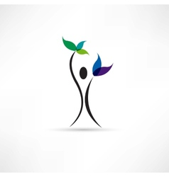 People and plant icon vector