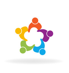 people teamwork friend group vector image