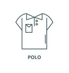 polo line icon linear concept outline vector image