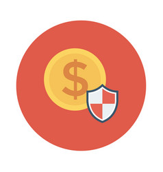 Protection lock money secure finance vector