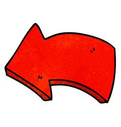 Quirky hand drawn cartoon arrow vector