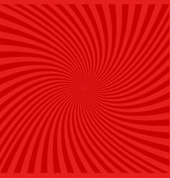 red spiral design background vector image