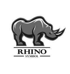 Rhino for the symbol logo labels vector image