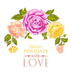 Rose garland in holiday vector