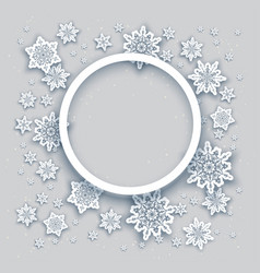 Round christmas frame vector
