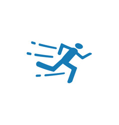 running icon design template isolated vector image
