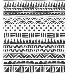 Seamless pattern in tribal style abstract vector