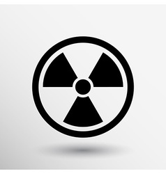 Sign radiation icon caution nuclear atom power vector