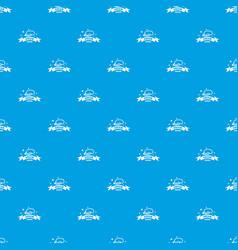 Sleeping pattern seamless blue vector
