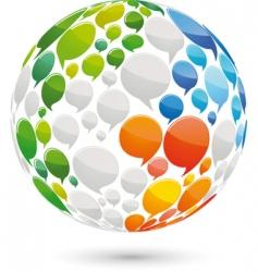 Speech bubbles globe vector