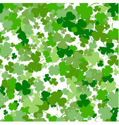 st patrick s day seamless background vector image