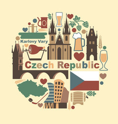 symbols of the czech republic vector image