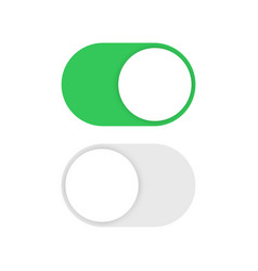 toggle switch buttons isolated vector image