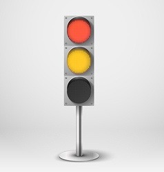 Traffic light Red and yellow diod traffic l vector
