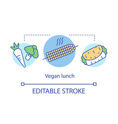 vegan lunch healthy lifestyle concept icon vector image