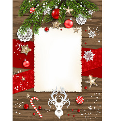 vertical holiday poster vector image