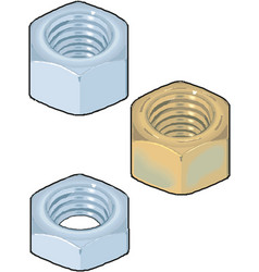 Washer nut on white vector