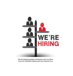 We are hiring design concept with chosen vector