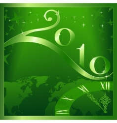 Christmas 2010 card vector image vector image