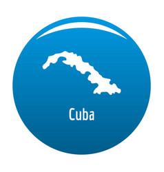 cuba map in black simple vector image vector image